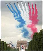 Planes over the Arc de Triomphe