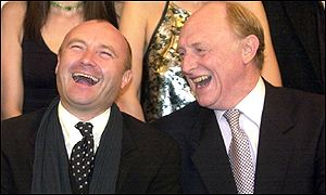 Phil Collins and Neil Kinnock