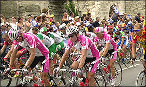 Start of 13th stage of the Tour de France