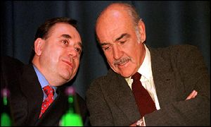 Akex Salmond and Sir Sean Connery