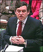 Gordon Brown in the Commons