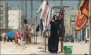 Rafah refugee camp in Gaza