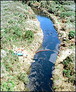 Iguacu River oil spill