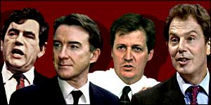 Brown, Mandelson, Campbell and Blair