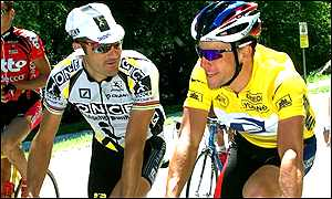 Laurent Jalabert and Lance Armstrong