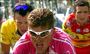 Jan Ullrich, Lance Armstrong and Richard Virenque