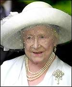 The Queen Mother on Tuesday at Clarence House