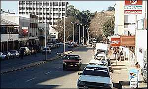a street in the capital Mbabane