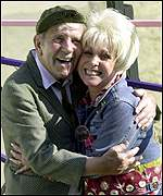 Norman Wisdom and Barbara Windsor