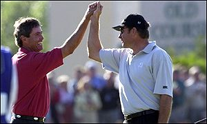 Nick Faldo and Ian Baker-Finch