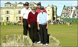 Sam Snead, Nick Faldo, Jason Leonard and Ian Baker-Finch