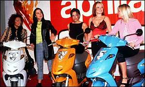 Spice Girls promoting Aprilia