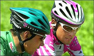 Jan Ullrich and Erik Zabel