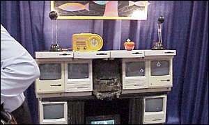 Apple Mac shrine at MacWorld