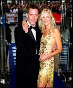 Hugh Laurie and Joely Richardson in London