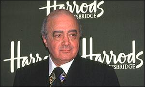 Harrods boss Mohamed al-Fayed