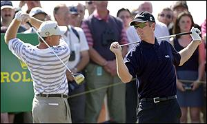 Ernie Els and David Duval