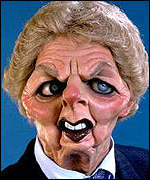 Baroness Thatcher's later caricature