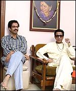 Bal Thackeray and son, Udhav