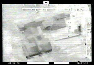 Infra-red image of Waco compound