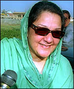 Kulsoom Nawaz, wife of former Pakistani prime minister Nawaz Sharif