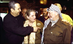 Mrs Albright, Mr Arafat and Mr Barak