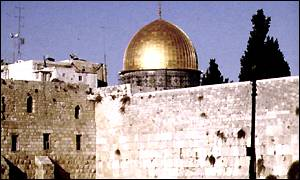 The Wailing Wall and The Dome of the Rock