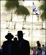 Jews gather at the Wailing Wall