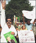 Supporters of Nawaz Sharif