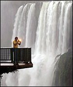 The famous Iguacu falls have been protected