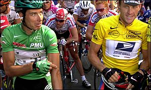 Erick Zabel and Lance Armstrong