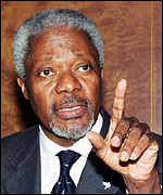 Kofi Annan rebuked the G8 leaders