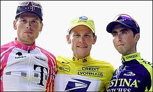 Lance Armstrong Jan Ullrich and Joseba Beloki
