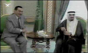 Egyptian President Mubarak and Saudi Arabia's King Fahd
