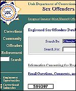 Utah's sex offender online database