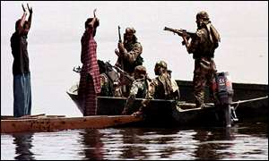 Indian marine commandos on Wullur lake