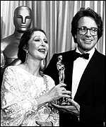 Presenting Warren Beatty with an Oscar in 1982