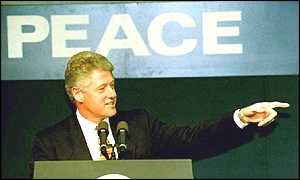 image: [ Bill Clinton has visited Northern Ireland before but not all the province's leaders want him back now ]