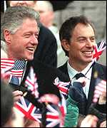 [ image: Clinton said he would not come unless Blair and Ahern wanted him to]