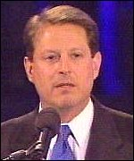 [ image: Al Gore delighted the crowd by starting his speech in Hebrew]