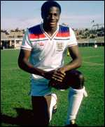 Justin Fashanu in England strip