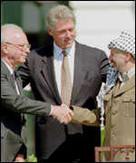 rabin and arafat shake hands