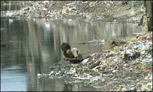 Poverty stricken child in India