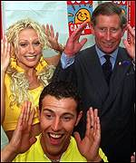 Steps members with Prince Charles