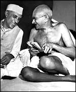 Gandhi with Nehru