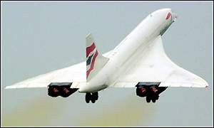 Concorde leaves Heathrow