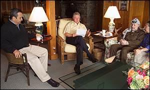 Barak, Clinton, Arafat