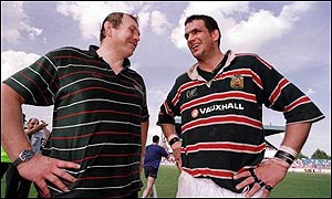 Dean Richards and Martin Johnson