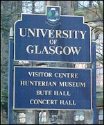 University of Glasgow sign