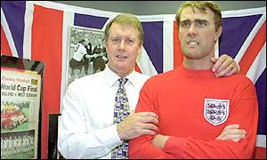 Sir Geoff Hurst and wax model
